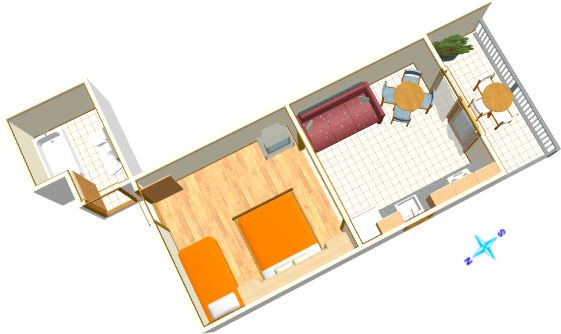 Apartments Šimić, Tučepi - plan