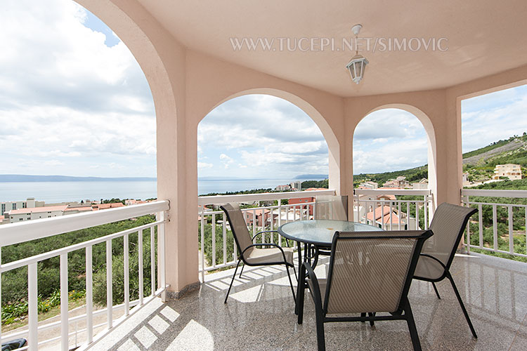 large terrace with wonderful view on adriatic sea, Tučepi and surrounding nature