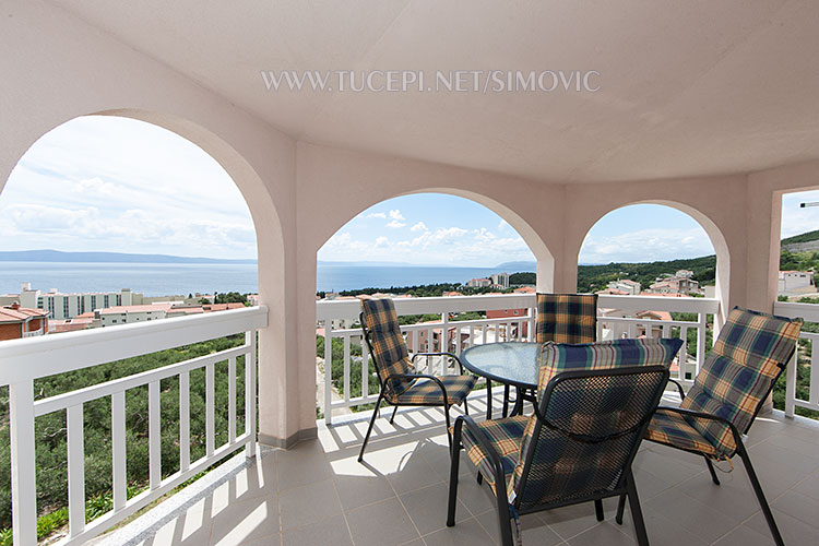 terrace with amazing panorama of Tučepi and adriatic sea