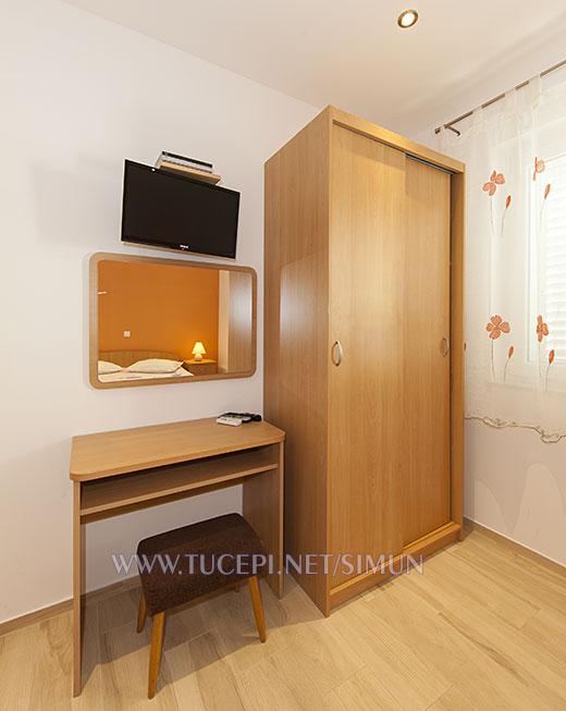 wardrobe, mirror, TV, table