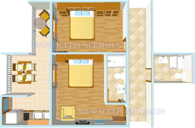apartment Šimun Mijačika, Tučepi - plan