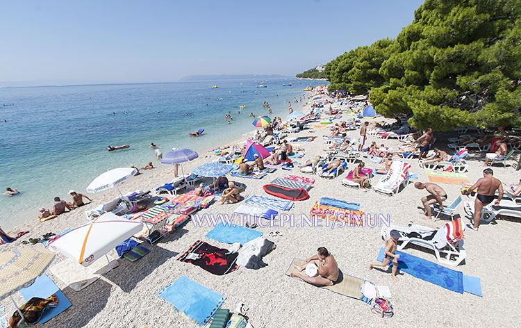 Tučepi beach at hotel Alga