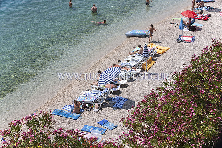 natural and beautiful beach in Tučepi