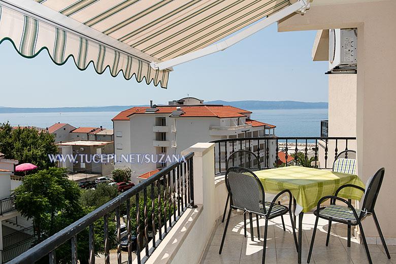 apartments Suzana, Tučepi - balcony with sea view
