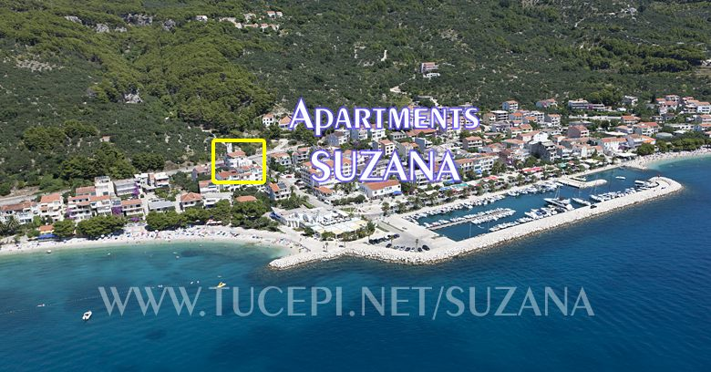Position of apartments Suzana in Tučepi