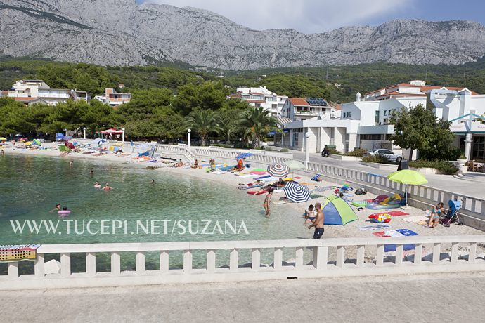 Central beach in Tučepi