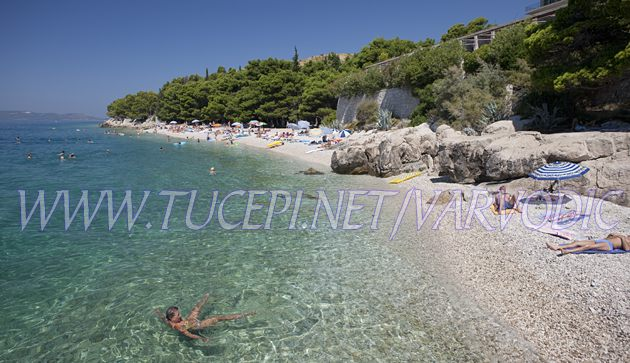 beach at hotel Jadran, Tučepi