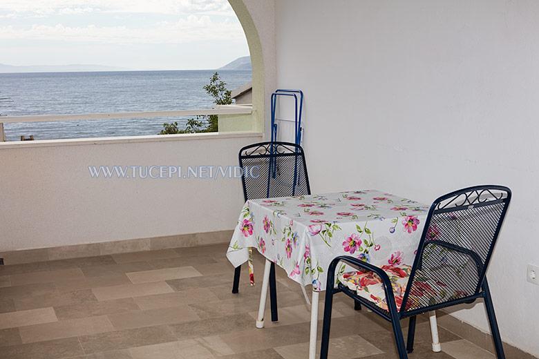 apartments Vidić, Tučepi - terrace wit sea view