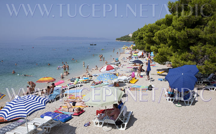 beach in Tucepi, Croatia