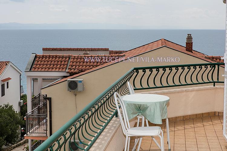 Apartments Vila Marko, Tučepi - balcony with sea view