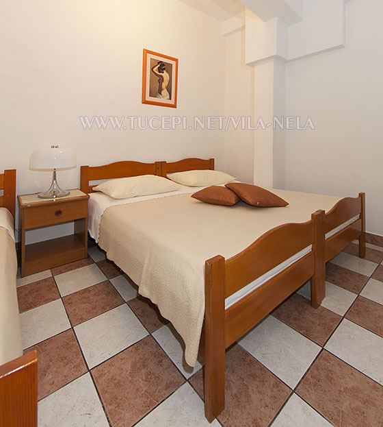 bedroom, Apartments Vila Nela, Tučepi