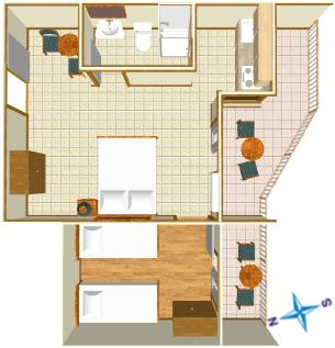Apartments Vila Nela, Tučepi - flat plan