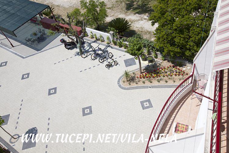 top view on parking, Vila Nela, Tučepi