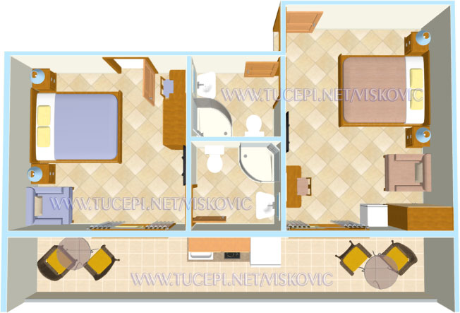 apartment Visković Maksim and Jolanda, Tučepi - plan