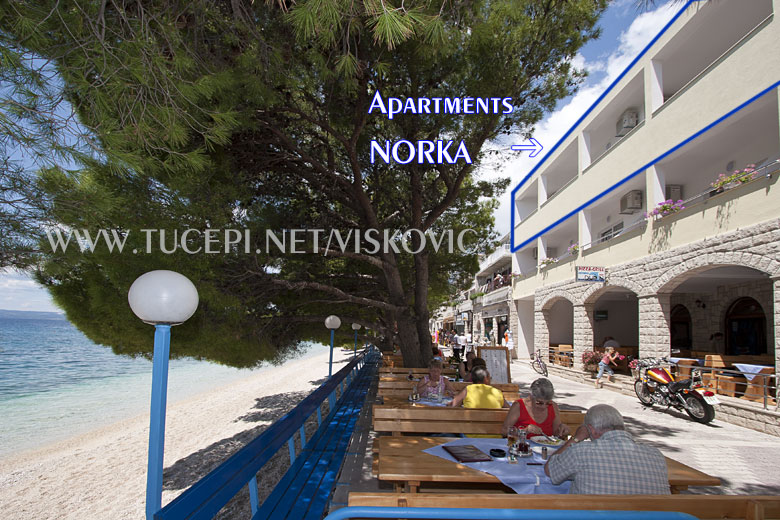 Apartments NorKa and restaurant Dupin, Tučepi