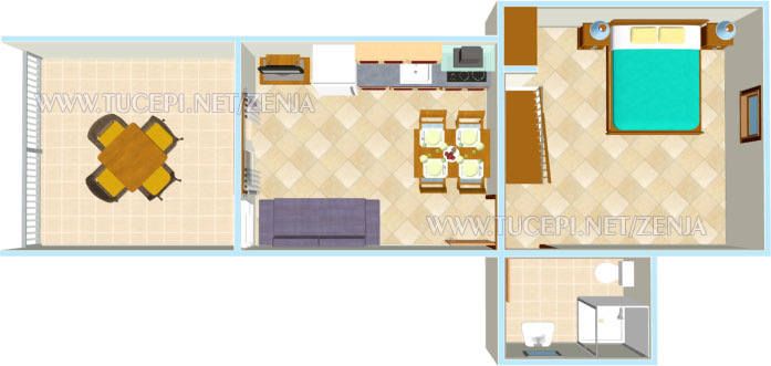 apartments Ženja, Tučepi - plan
